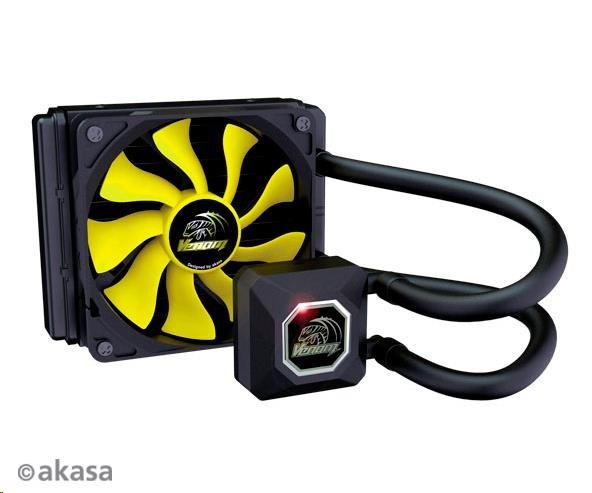 AKASA Chladič CPU VENOM A10 pro patice LGA 775,115x, 1366, 2011,2066 Socket AMx, FMx, měděné jádro, 120mm PWM ventilátor