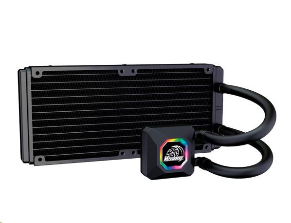 AKASA Chladič CPU VENOM R20 pro patice LGA 775,115x, 1366, 2011,2066 Socket AMx, FMx, měděné jádro, 120mm PWM ventilátor