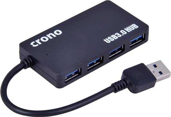 CRONO USB 3.0 HUB, 4 porty, černý (U1325)