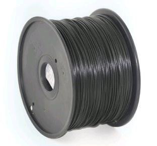 GEMBIRD Tisková struna (filament) PLA, 1,75mm, 1kg, černá (3DP-PLA1.75-01-BK)