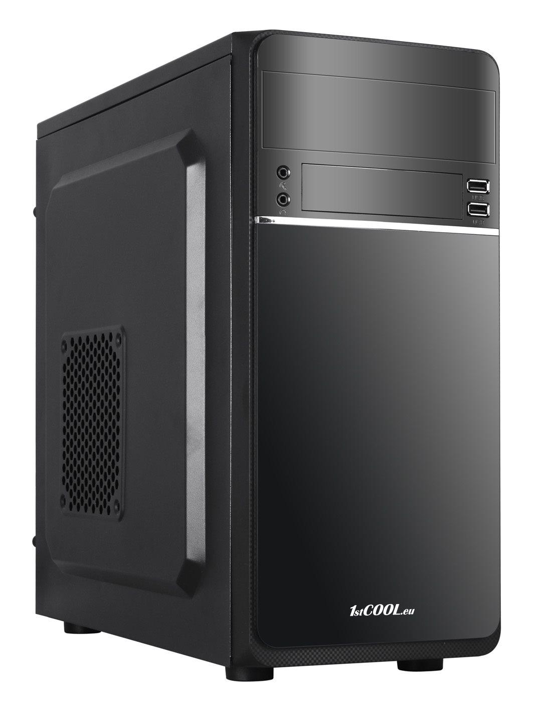 1stCOOL skříň STEP 1, micro ATX, AU, USB 2.0, bez zdroje, Black