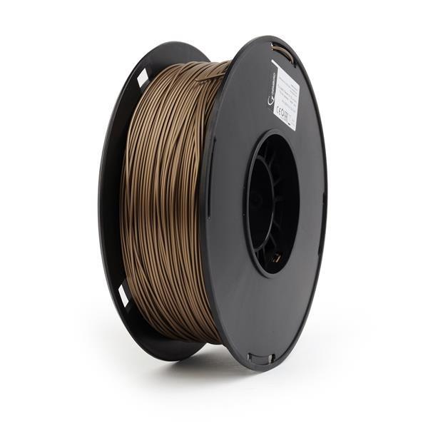 GEMBIRD Tisková struna (filament) PLA PLUS, 1,75mm, 1kg, zlatá metalická