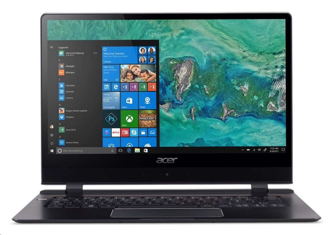 "ACER NTB Swift 7 (SF714-51T-M3UY) - i7-7Y75,14""FHD IPS touch,8GB,256SSD NVMe,Intel HD,USB-C,4G LTE,2c,W10P NX.GUHEC.002"