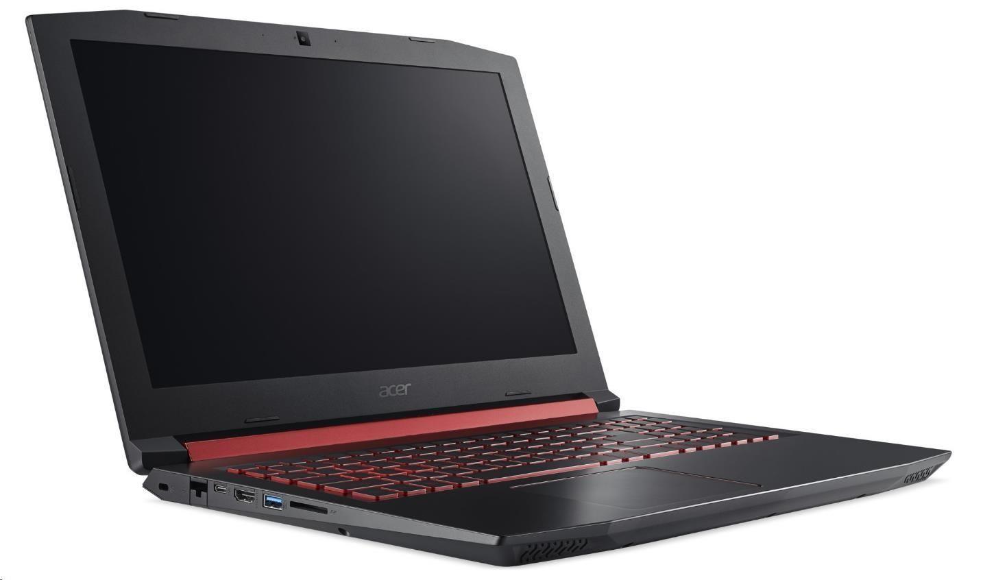 "ACER NTB Nitro 5 (AN515-52-79VA), i7-8750UH,15.6""FHD IPS,16GB,256SSD+1TBHDD/7200,GTX 1060-6G,noDVD,čt.pk,USB-C,4c,W10H"