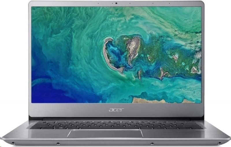 """ACER NTB Swift 3 (SF314-54-34U2) - i3-7020U@2.3GHz,14"""" FHD IPS,4GB,128SSD,HD graphics,čt.pk,4čl,W10H,silver NX.GXJEC.002"""