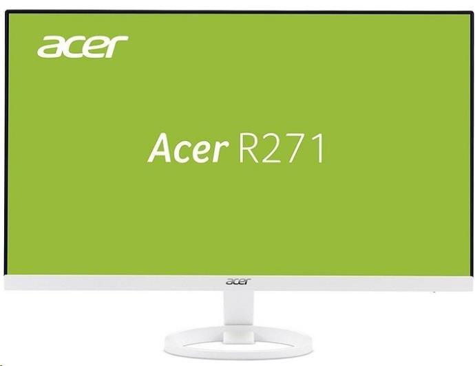 "ACER LCD R271wmid, 69cm (27"") IPS LED, FHD 1920x1080 matný,100M:1,250cd/m2,178°/178°,4ms, VGA,DVI,HDMI,repro 2x2W,bílá (UM.HR1EE.005)"