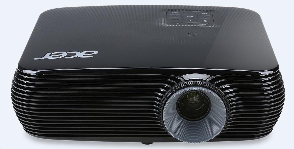ACER Projektor X1226H - DLP 3D, XGA 1024x768, 4000 Ansi, 20000:1, VGA, HDMI, repro1x3W, 2,65kg, životnost lampy 4500 hod (MR.JPA11.001)