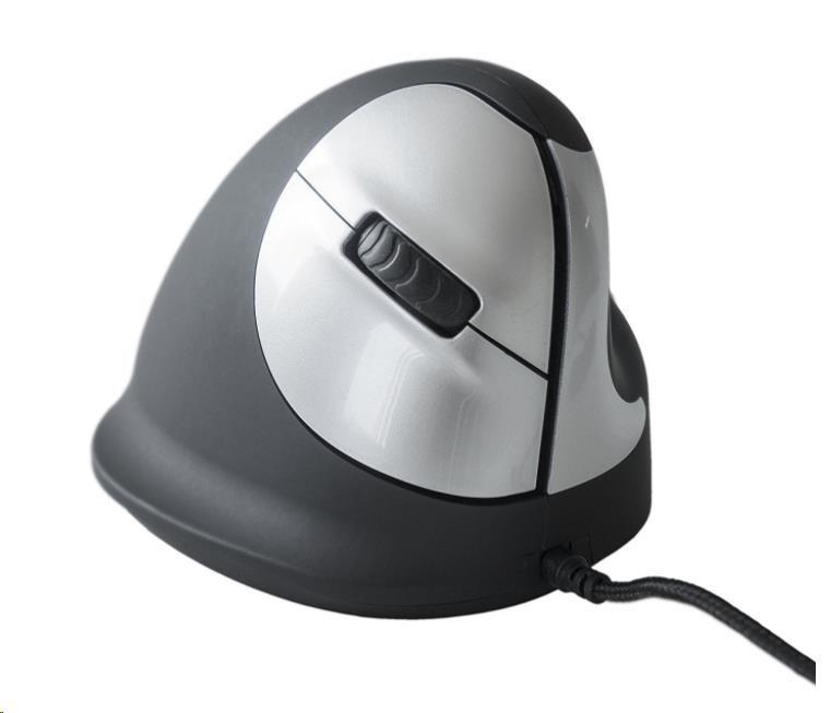 R-Go HE - Ergonomická vertikální myš, pro praváky, drátová, (M)