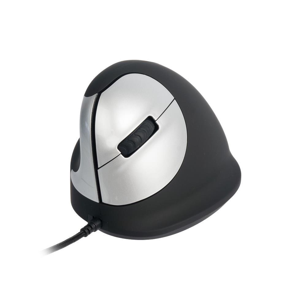 R-Go HE - Ergonomická vertikální myš, pro leváky, drátová (M)