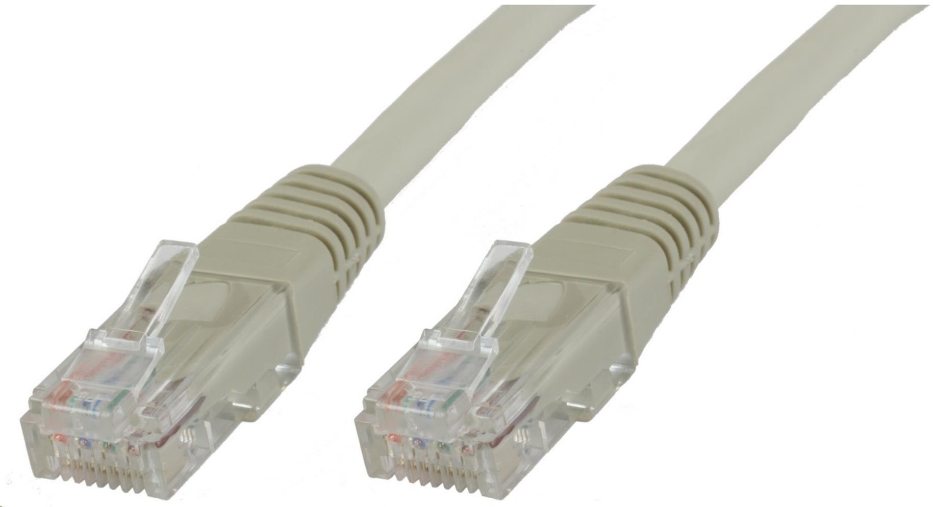MicroConnect UTP CAT5e 15m, šedý (Cu)