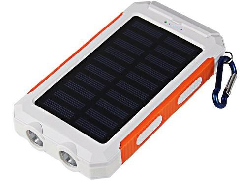 Viking solární outdoorová power banka Delta I 8000mAh, bílo-oranžová (SDE108WHOR)