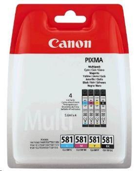Canon BJ CARTRIDGE CLI-581 C/M/Y/BK MULTI BLISTER SEC