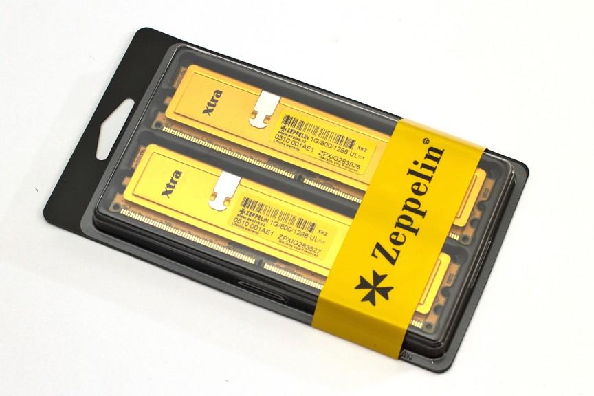 EVOLVEO Zeppelin, 2GB 800MHz DDR2 CL6, GOLD, box (2x1GB KIT)