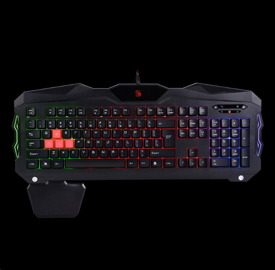 A4tech Bloody B210 podsvícená herní klávesnice, USB, CZ
