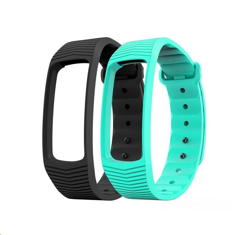 EVOLVEO FitBand B3, náhradní barevné pásky, 1x černá a 1x tyrkysová barva