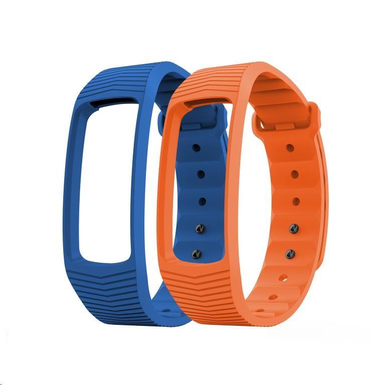 EVOLVEO FitBand B3, náhradní barevné pásky, 1x modrá a 1x oranžová barva