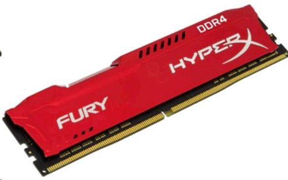 DIMM DDR4 8GB 2666MHz CL16 KINGSTON HyperX FURY Red