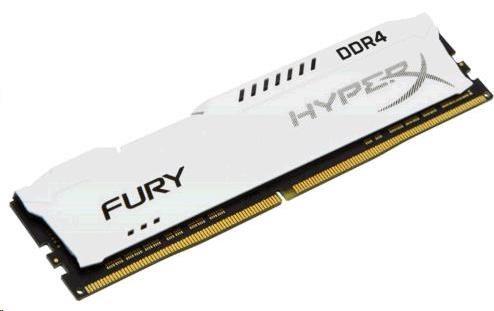 DIMM DDR4 8GB 2666MHz CL16 KINGSTON HyperX FURY White