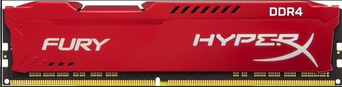 DIMM DDR4 16GB 2666MHz CL16 KINGSTON HyperX FURY Red