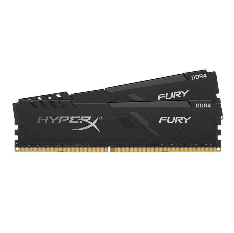 DIMM DDR4 16GB 2666MHz CL16 (Kit of 2) KINGSTON HyperX FURY Black