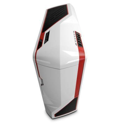 NZXT skříň Phantom/Full Tower/bez zdroje/USB2.0/E-ATX/bílá s červenými pruhy (PHAN-003RD)