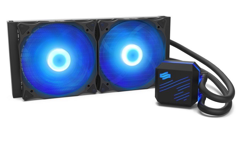 SilentiumPC vodní chladič Navis RGB 280 AiO / 2x140mm fan / 22dBA / pro AM3, AM4, LGA 2066, 2011, 1155, 1151, 1156, 1366