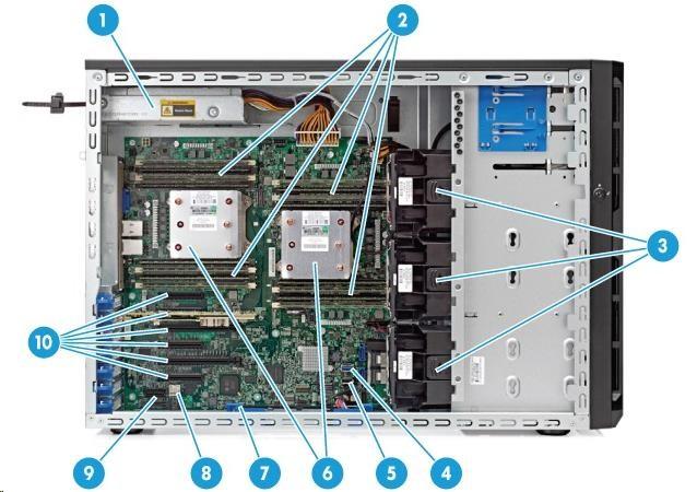 HP PL ML150G9 E5-2609v4 1x8G 1x1TB nSATA B140 4LFF 1x550Wn DVDRW 3-1-1 (834614-425)