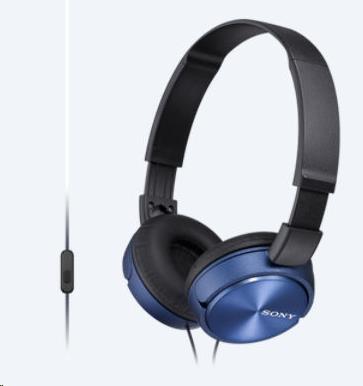 SONY stereo sluchátka MDR-ZX310, modrá (MDRZX310L.AE)