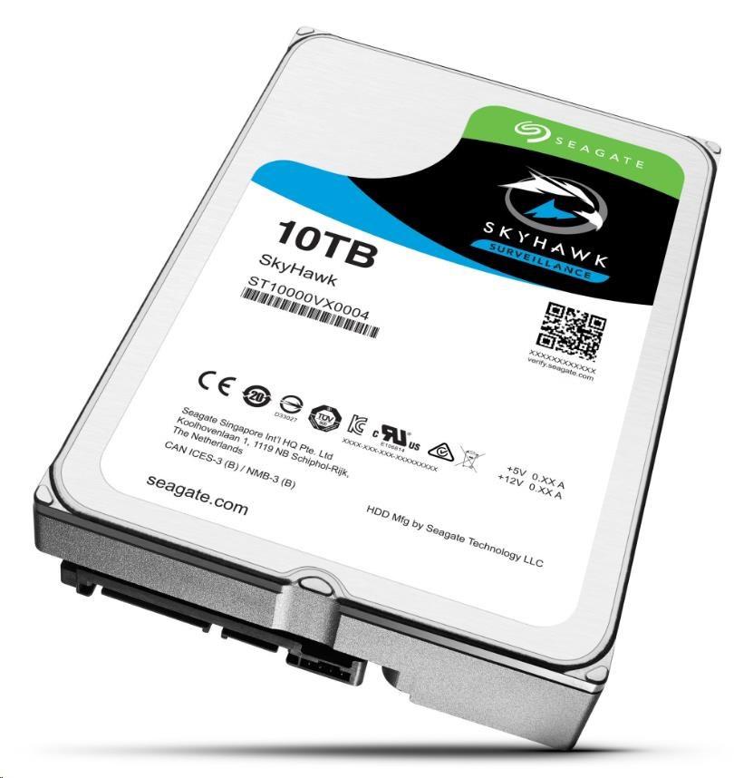 SEAGATE HDD SKYHAWK (SURVEILLANCE) 10TB SATAIII/600 7200RPM, 256MB cache (ST10000VX0004)