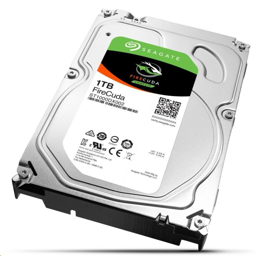 SEAGATE SSHD FIRECUDA, Hybrid HDD 1TB SATAIII/600, 64MB cache, 8GB SSD, 3.5'' (ST1000DX002)