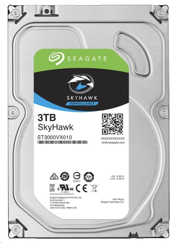 SEAGATE HDD SKYHAWK (SURVEILLANCE) 3TB SATAIII/600 5900RPM, 64MB cache (ST3000VX010)
