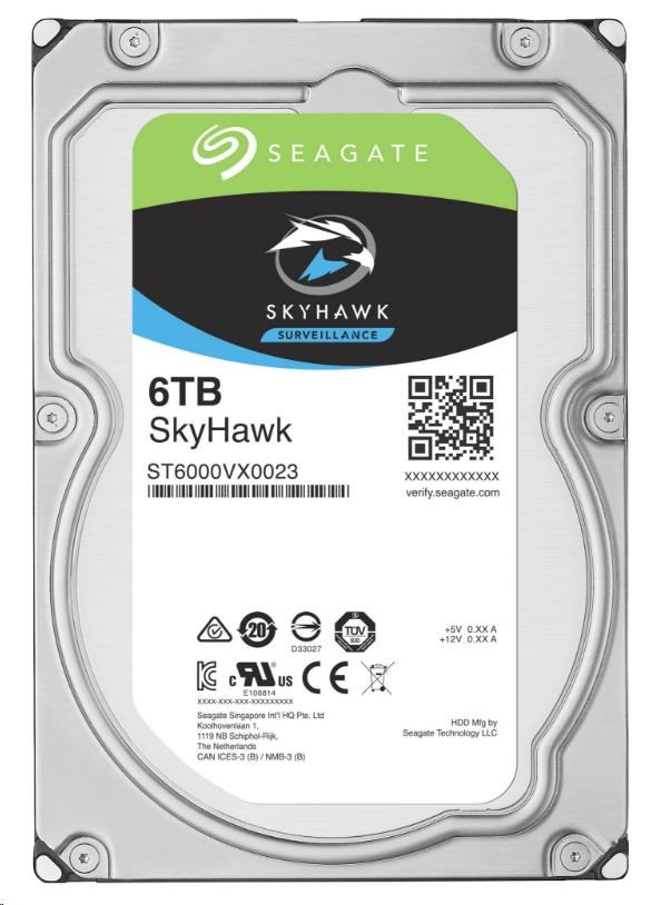 SEAGATE HDD SKYHAWK (SURVEILLANCE) 6TB SATAIII/600 7200RPM, 256MB cache (ST6000VX0023)