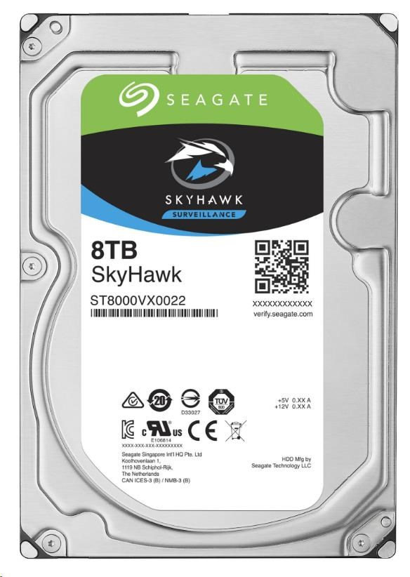 SEAGATE HDD SKYHAWK (SURVEILLANCE) 8TB SATAIII/600 7200RPM, 256MB cache (ST8000VX0022)