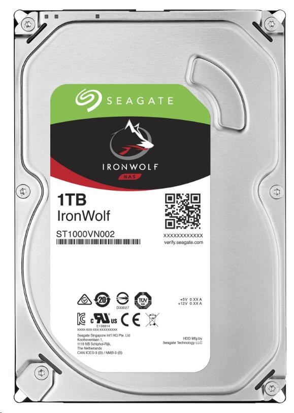 SEAGATE HDD IRONWOLF (NAS) 1TB SATAIII/600, 5900rpm, 64MB cache (ST1000VN002)
