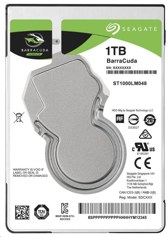 "SEAGATE HDD BARRACUDA 2.5"" 1TB, SATAIII/600 5400RPM, 128MB cache, 7mm (ST1000LM048)"