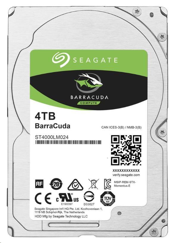 "SEAGATE HDD BARRACUDA 2.5"" 4TB, SATAIII/600 5400RPM, 128MB cache, 15mm (ST4000LM024)"