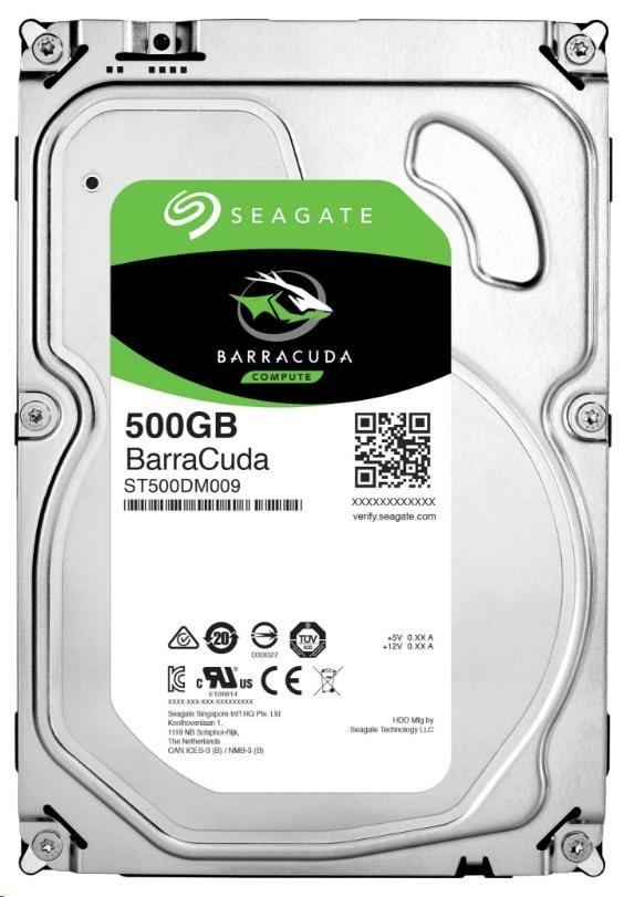 SEAGATE HDD BARRACUDA 500GB SATAIII/600 7200RPM, 16MB cache (ST500DM009)