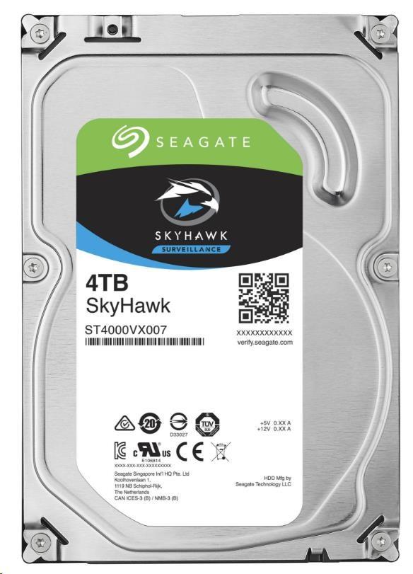 SEAGATE HDD SKYHAWK (SURVEILLANCE) 4TB SATAIII/600 5900RPM, 64MB cache, recertified