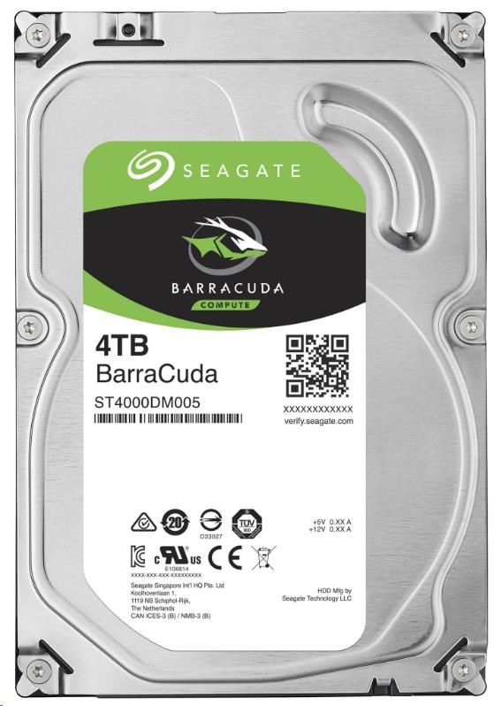 SEAGATE HDD BARRACUDA 4TB SATAIII/600 5400RPM, 256MB cache
