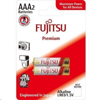 Fujitsu Premium Power alkalická baterie LR03/AAA, blistr 2ks