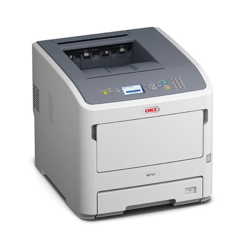 Oki B731dnw A4 52ppm 1200x1200 dpi,PCL/PS, LAN, USB, Wifi (45487102)