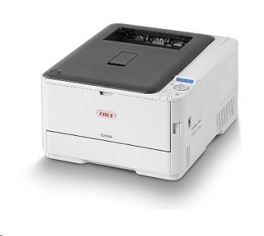Oki C332dn, A4, 26/30 ppm, ProQ2400 dpi, 1GB RAM, PCL6, PS3, USB 2.0, LAN, duplex