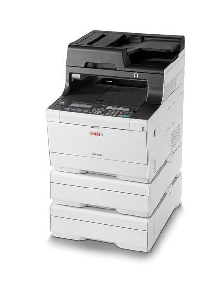 Oki MC563dn A4 30 ppm 1200x1200 dpi, PCL/PS, RADF, USB 2.0,LAN, sXP (46357132)