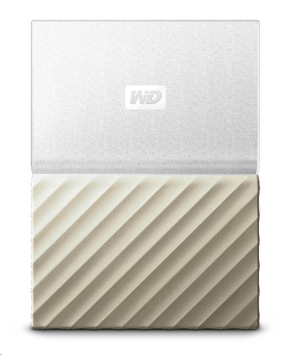 "WD My Passport ULTRA 1TB Ext. 2.5"" USB3.0 White/Gold (WDBTLG0010BGD-WESN)"
