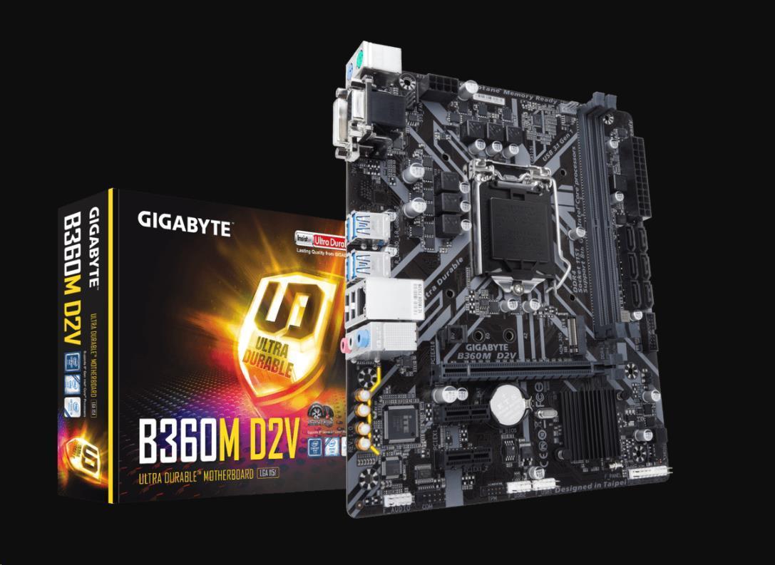 GIGABYTE MB Sc LGA1151 B360M D2V, Intel B360, 2xDDR4, VGA, mATX