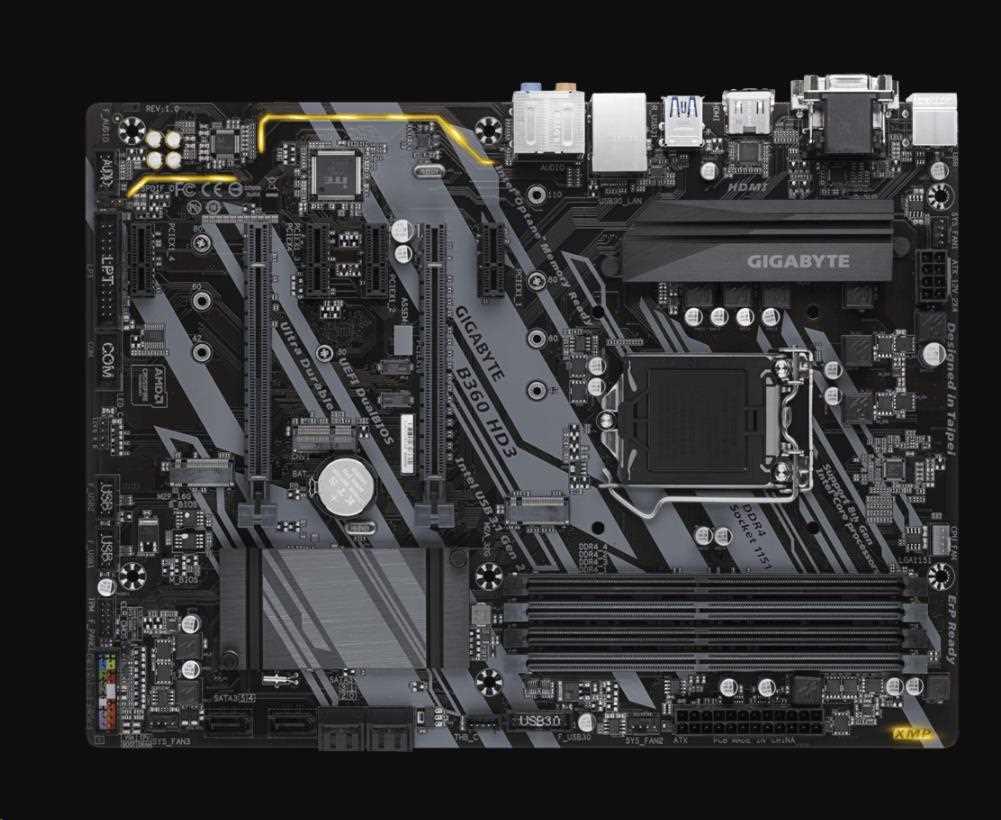 GIGABYTE MB Sc LGA1151 B360 HD3, Intel B360, 4xDDR4, VGA