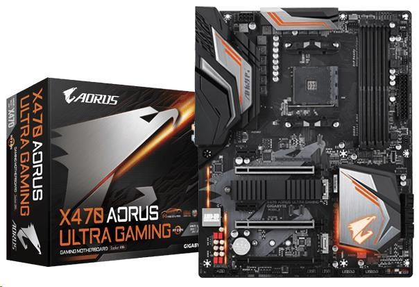 GIGABYTE MB Sc AM4 X470 AORUS ULTRA GAMING, AMD X470, 4xDDR4, VGA