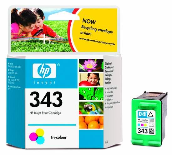 HP 343 Tri-color Ink Cart, 7ml, C8766EE (C8766EE#BA3)
