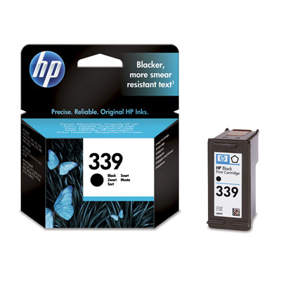 HP 339 Black Ink Cart, 21 ml, C8767EE (C8767EE#BA3)
