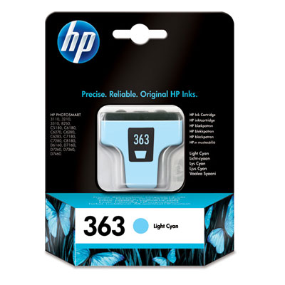 HP 363 Light Cyan Ink Cart, 5,5 ml, C8774EE (C8774EE#BA3)